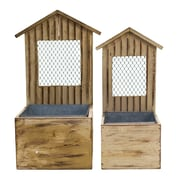 American Mercantile 2-Piece Wood Planter box Set