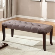 Roundhill Furniture Linion Bench; Brown Fabric