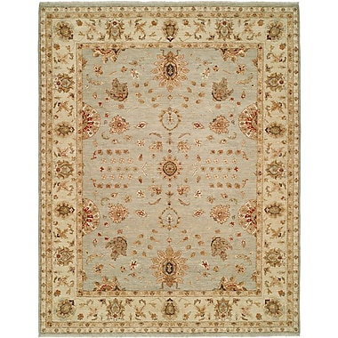 Shalom Brothers Royal Zeigler Hand-Knotted Beige/Gray Area Rug; 9' x 12'