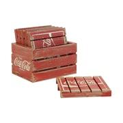 Crates & Pallet 7 Piece Crate w/ Pallets Set; Red