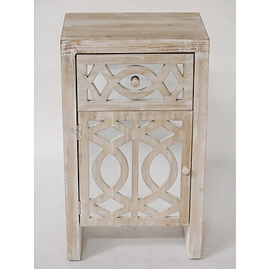 Heather Ann Accent Cabinet; White Wash