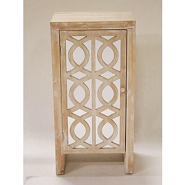 Heather Ann Cabinet w/ Mirror; White Wash