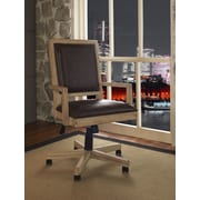 Fairfax Home Collections Blair Leather Bankers Chair; Tan
