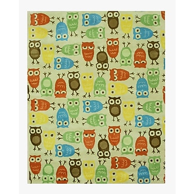 Eastern Rugs Hand-Tufted Beige/Blue/Green Kids Area Rug; 7'9'' x 9'9''