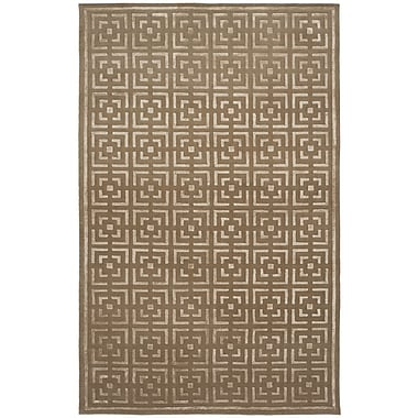 Shalom Brothers Broadway Hand-Knotted Brown Area Rug; 6' x 9'