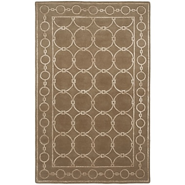 Shalom Brothers Broadway Hand-Knotted Brown Area Rug; 2' x 3'