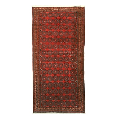 Eastern Rugs Baluchi Hand-Knotted Red Area Rug