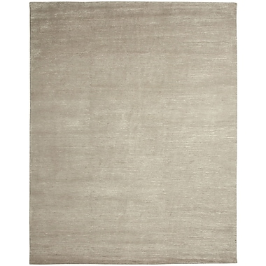 Shalom Brothers Broadway Hand-Knotted Gray Area Rug; 6' x 9'