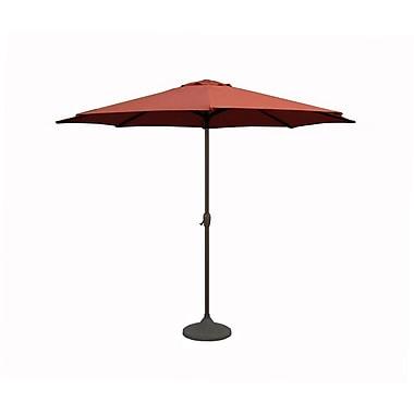 LB International 9' Market Umbrella; Terracotta/Brown