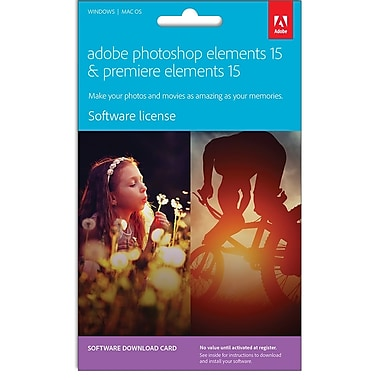 Adobe® – Ensemble Photoshop Elements 15 et Premiere Elements 15, français