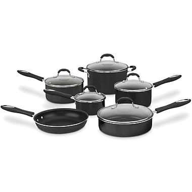 Cuisinart – Batterie de cuisine antiadhésive de 10 pièces collection Advantage, noir (55-10BKC)