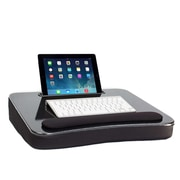 Sofia + Sam All-Purpose Memory Foam Lapdesk with Tablet Slot Black (5022)