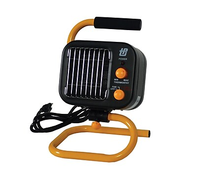 TPI 5120 BTU Ceramic Fan Forced Portable Electric Heater, Black/Yellow (178TMC)