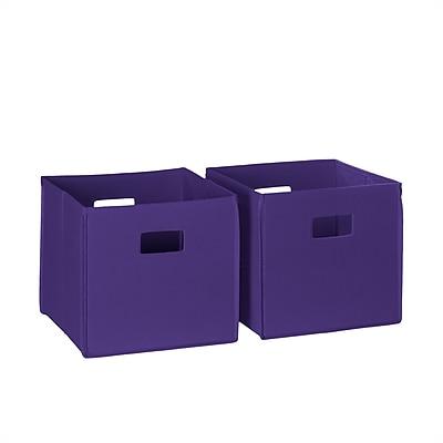 RiverRidge® Kids 2 Piece Folding Storage Bin Set - Dark Purple (02-059)