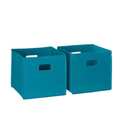 RiverRidge® Kids 2 Piece Folding Storage Bin Set - Turquoise (02-060)