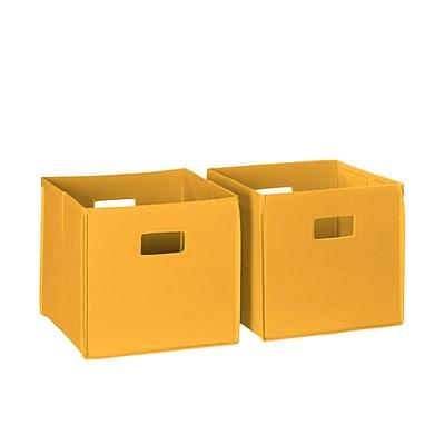 RiverRidge® Kids 2 Piece Folding Storage Bin Set - Golden Yellow (02-061)