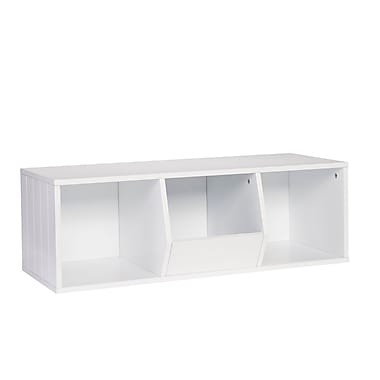 RiverRidge® Kids Storage Stacker 2 Cubbies, 1 Veggie Bin - White (02-075)