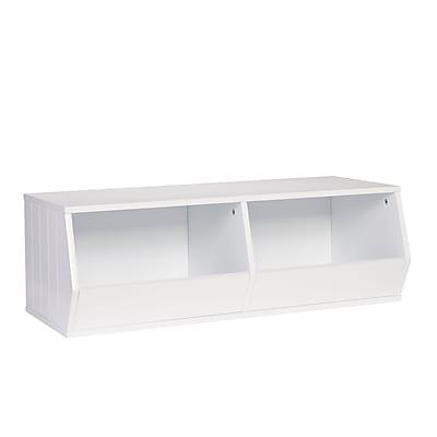 RiverRidge® Kids Storage Stacker - 2 Veggie Bins - White