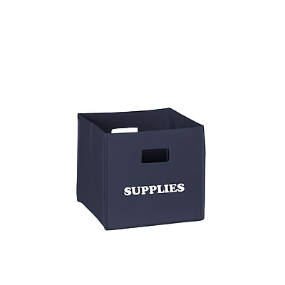 RiverRidge® Kids Navy Folding Storage Bin with Print - Supplies (02-126)