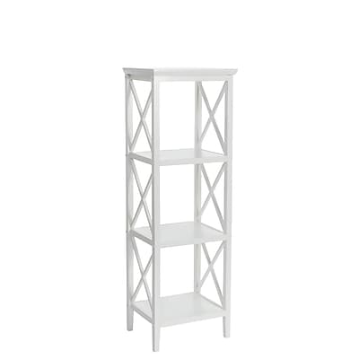RiverRidge® Home Products X- Frame Collection 4-Shelf Storage Tower - White (06-001)
