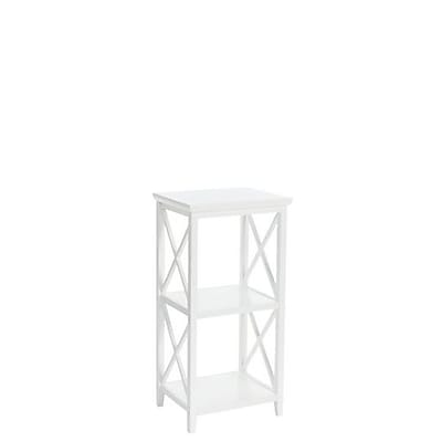 RiverRidge® Home Products X- Frame Collection 3-Shelf Storage Tower - White (06-072)