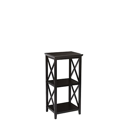 RiverRidge® Home Products X- Frame Collection 3-Shelf Storage Tower - Espresso (06-073)