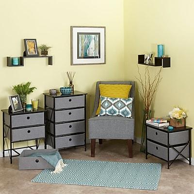 RiverRidge® Kids Sort & Store - 3-Bin Organizer - Gray (16-004)