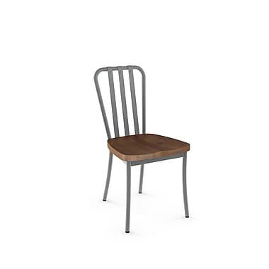 Amisco – Chaise Bond en métal avec siège en bois vieilli, 2/pqt, gris (31267-WE/2B2487)