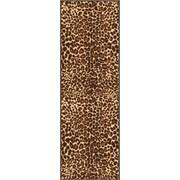 Well Woven Kings Court Gold Leopard Print Area Rug; Runner 2' x 7'