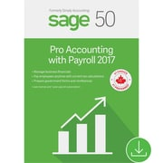 Sage 50 Pro Accounting with Payroll 2017, 1-Year Subscription, Bilingual [Download]