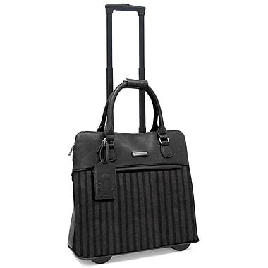 Cabrelli & Co. – Sac à roulettes Lucy Laser pour ordinateur portatif de 15 po, noir/gris (716023_BGR)