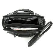 "Cabrelli & Co. Talula Two Tone 15"" Rolling Laptop Bag, Black/White (716035_BWT)"