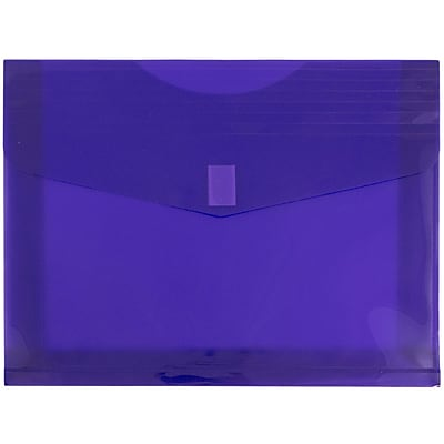 JAM Paper® Plastic Envelopes with Hook & Loop Closure, 2