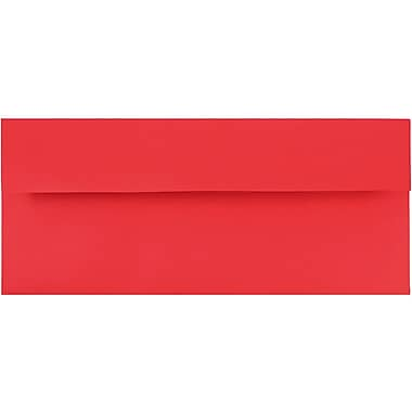 JAM Paper® #10 Business Envelopes, 4 1/8 x 9.5, Brite Hue Red Recycled, 500/Pack (67161H)