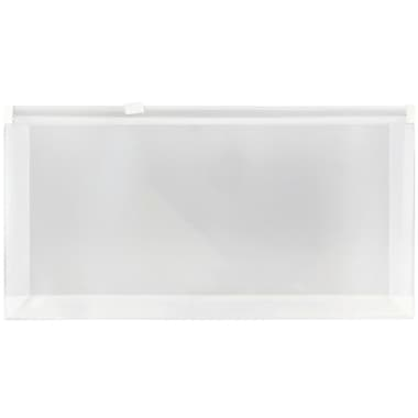 JAM Paper® #10 Plastic Envelopes with Zip Closure, 5 x 10, Clear Poly, 12/pack (921Z1CL)