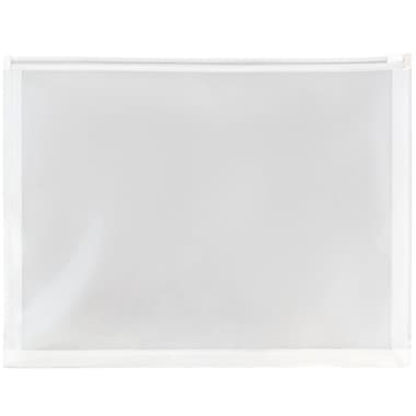 JAM Paper® Plastic Envelopes with Zip Closure, Letter Booklet, 9.5 x 12.5, Clear Poly, 12/Pack (218Z1CL)