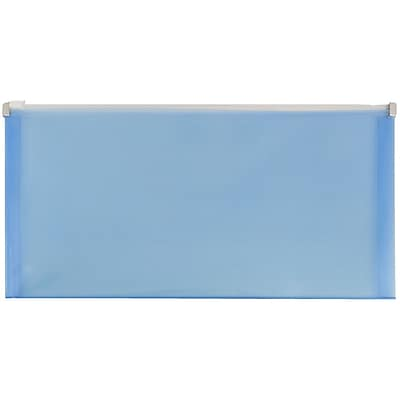 JAM Paper® #10 Plastic Envelopes with Zip Closure, 5 x 10, Blue Poly, 108/pack (921Z1BUB)