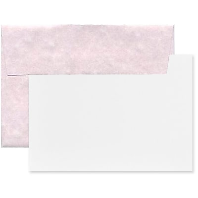 JAM Paper® Recycled Parchment Stationery Set, 25 Cards and 25 A2 Envelopes, Orchard, set of 25 (304624562)
