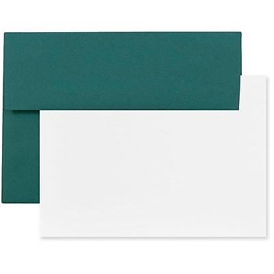 JAM Paper® Stationery Set, 25 Cards and 25 4bar A1 Envelopes, Teal Blue, set of 25 (304624621)
