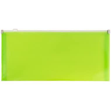 JamMD – Enveloppes de plastique format livret avec fermeture à glissière, 5 x 10 po, vert lime