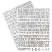 JAM Paper® Self Adhesive Alphabet Letters Stickers, Silver, 372/pack (2132817357)