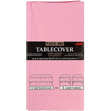 JAM Paper® Paper Table Covers, Pink Table Cloths, Sold Individually (291323314)