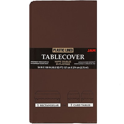 JAM Paper® Paper Table Covers, Chocolate Brown Table Cloths, Sold Individually (291323330)