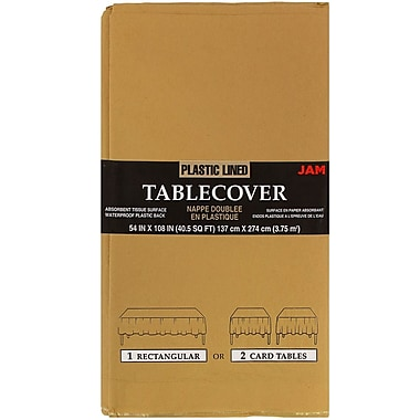 JAM Paper® Paper Table Covers, Gold Table Cloths, Sold Individually (291325369)