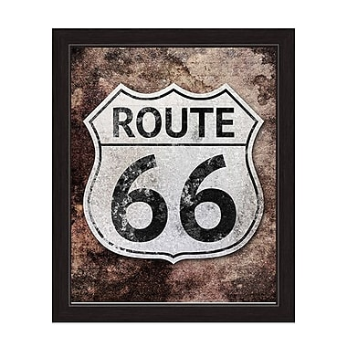 Click Wall Art ''Rustic Route 66'' Framed Memorabilia on Canvas