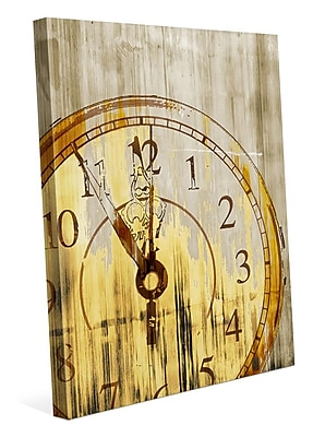 Click Wall Art 'Stain Clock Buff' Graphic Art on Wrapped Canvas; 20'' H x 16'' W x 1.5'' D