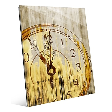 Click Wall Art 'Stain Clock Buff' Graphic Art; 10'' H x 8'' W x 1'' D