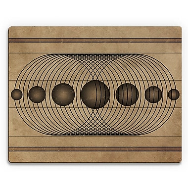 Click Wall Art 'Rhythm in Symmetry' Graphic Art on Plaque; 16'' H x 20'' W x 1'' D