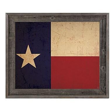 Click Wall Art 'Texas Flag Vintage' Framed Graphic Art; 14.5'' H x 17.5'' W x 1'' D