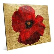 Click Wall Art 'Poppy Flower' Graphic Art; 11'' H x 14'' W x 1'' D